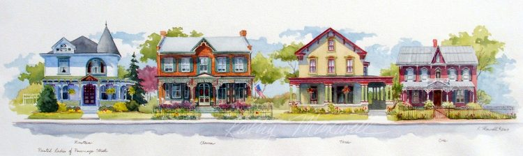 Painted Ladies of Parsonage Street (Newville, PA)