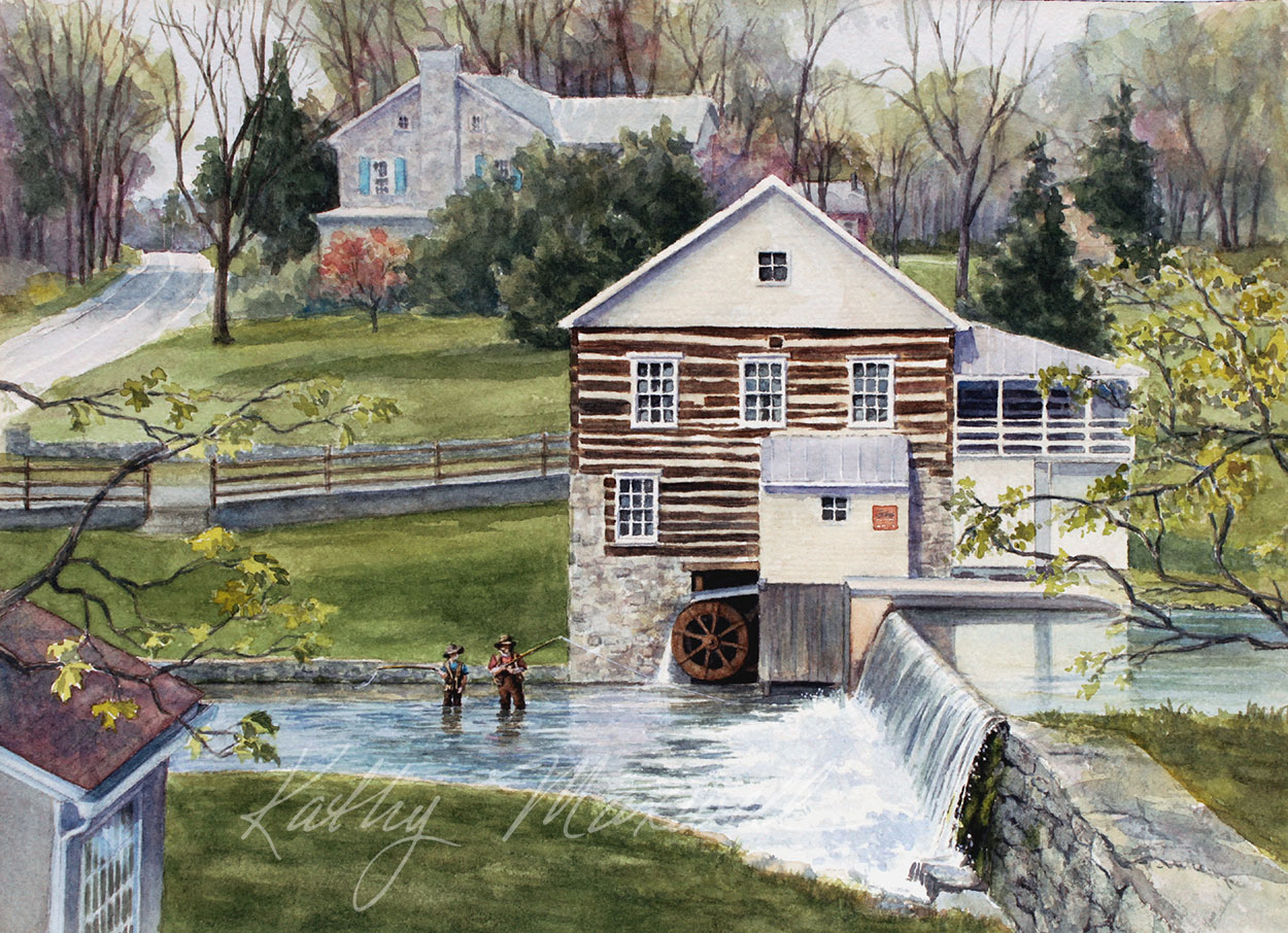 Trout Fishing at Laughlin Mill (Newville, PA)