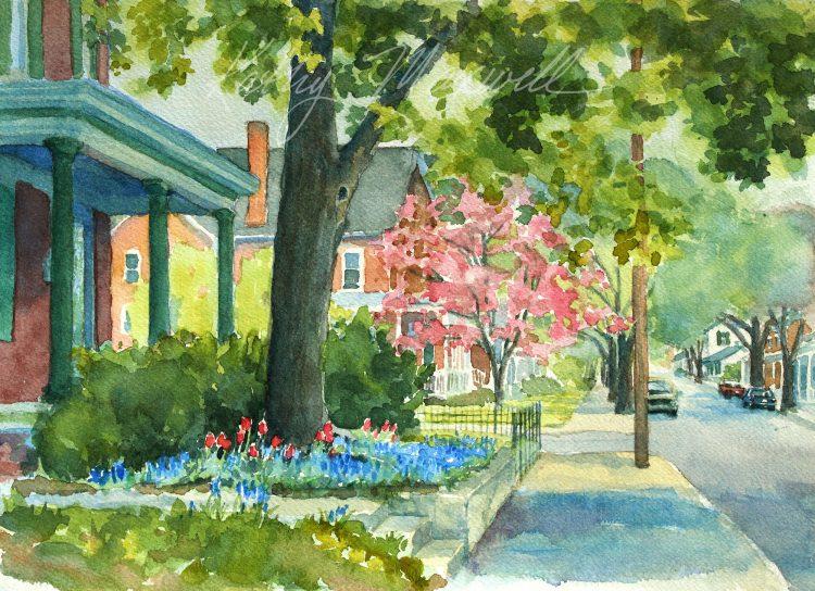West Street, Springtime (Carlisle, PA)