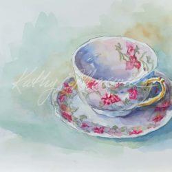 Haviland Limoges Rose Teacups